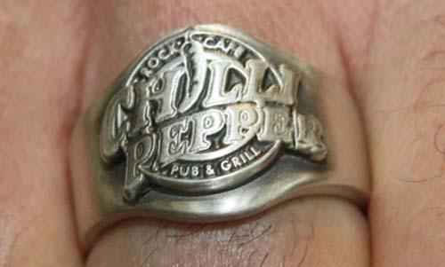 Chilli Pepper Ring aus massivem Silber